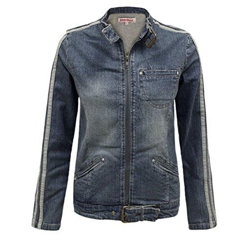 Envy Boutique Women's Vintage Denim Biker Jean Style Stretch Zipped Coat Jacket Top