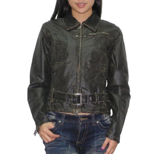 Harley Davidson Motorcycles Womens Casual Racing Zip-up Jacket (vintage Look)