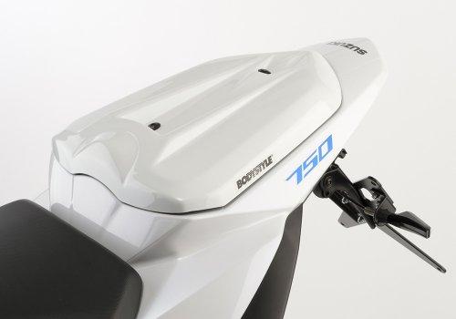 Pillion seat cover Bodystyle Suzuki GSR 750 11-16 white