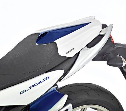 Pillion seat cover Bodystyle Suzuki Gladius 650 11-13 white blue