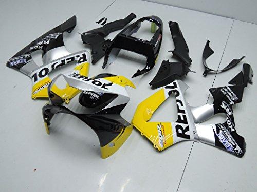 Yellow Black Silver Fairing Fit for Honda 2000-2001 CBR929RR CBR900RR ABS Plastic Bodywork aa03