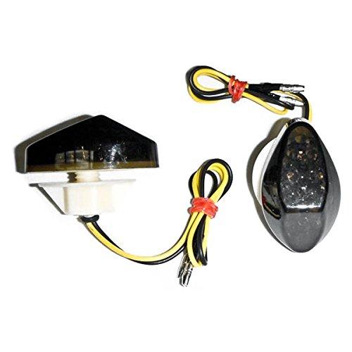 Krator Motorcycle 1997-2012 Honda LED Flushmount Turn Signals Smoke Flush Mount Indicators Signals Fits 600RR 600 F41 1000RR