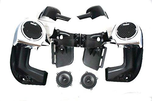 Mutazu 283900026 Chrome Harley 525 Speaker vented lower Fairing