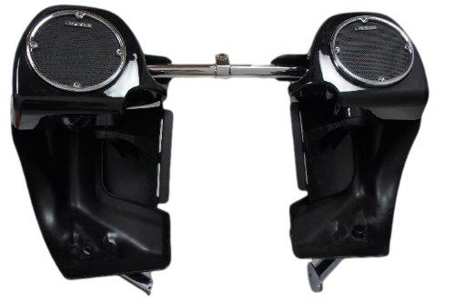 Mutazu 283900027 Vivid Black Harley 525 vented Speaker lower Fairing