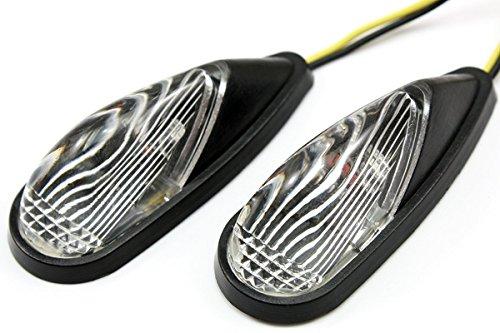 LUO Motorcycl Racing LED Amber Turn Signals Blinker Indicators Lens Lights Clear Fit for Honda CBR600 CBR900RR 929RR 954RR 1000RR