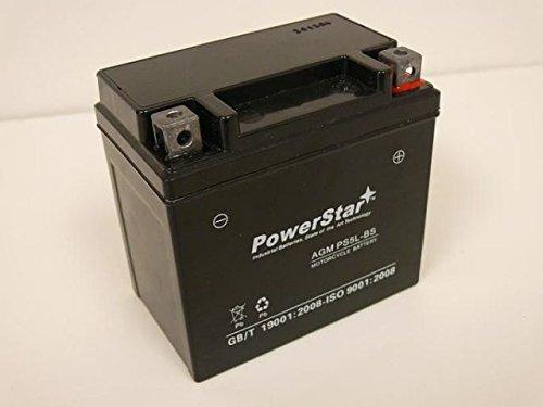 PowerStar PS5L-BS-017 Aprilia Motorcycle 50 cc 2005-2001 SR50 Ditech Replacement Motorcycle Battery