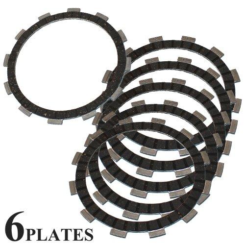 Caltric CLUTCH FRICTION PLATE Fits SUZUKI LS650 LS 650 LS650P SAVAGE 1995-2011 6 PLATES