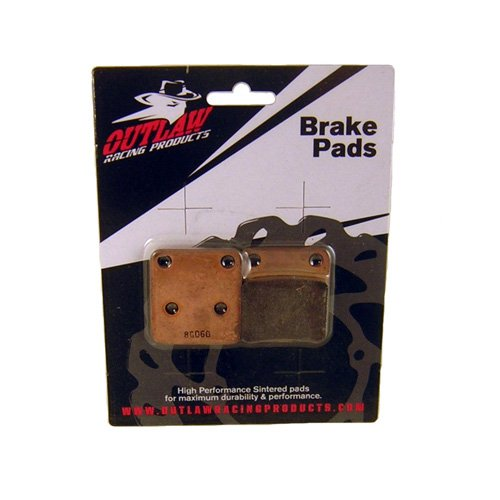 Outlaw Racing OR31922 Rear Sintered Brake Pads Yamaha FJR1300AA-ABSAEES