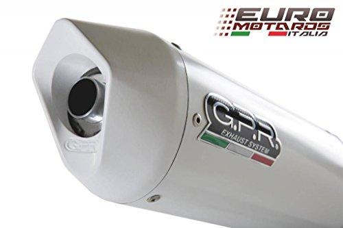 Suzuki GSR 750 2011-2015 GPR Exhaust Systems Albus White Slipon Silencer Road Legal