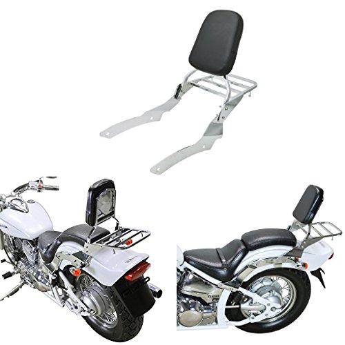 Chrome Backrest Sissy Bar With Luggage Rack Backrest Pad For Yamaha V-Star Vstar 650 400 Custom 1996-2011