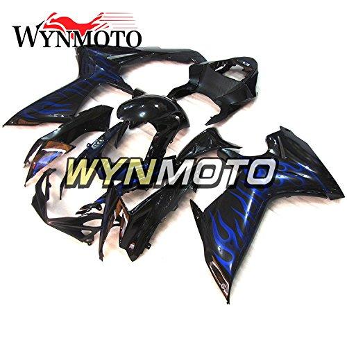 WYNMOTO Gloss Black Blue Flame New Motorcycle Body Kit For Suzuki GSX-R 600 GSXR750 2011 2012 2013 2014 2015 K12 11 - 15 Sportbike ABS Plastic Injection Body Frames