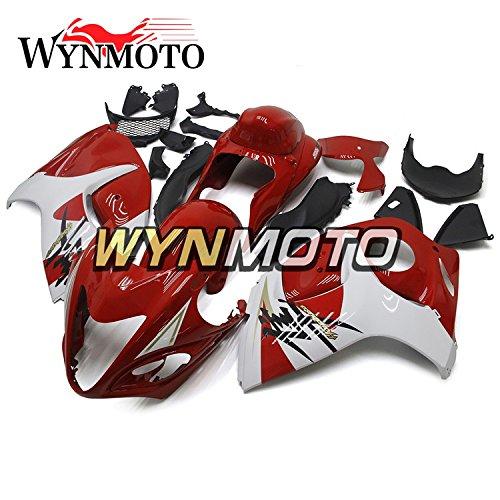 WYNMOTO Gloss Red White New Motorcycle Body Kit For Suzuki GSX-R1300 GSXR1300 Hayabusa 2011 2012 2013 2008 - 2016 Sportbike ABS Plastic Injection Body Frames