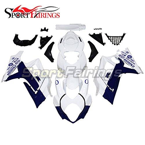 Sportfairings Complete Fairing Kits For Suzuki GSX-R1000 K7 2007 2008 GSXR-1000 Fairings ABS Cowling White Blue