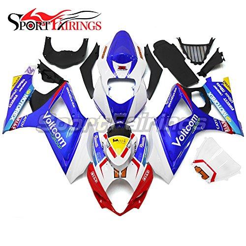 Sportfairings Complete Fairing Kits For Suzuki GSX-R1000 K7 2007 2008 GSXR-1000 Fairings ABS Fittings White Blue Red