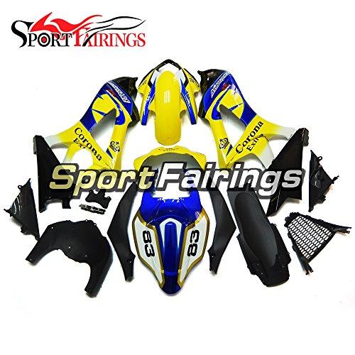 Sportfairings Complete Fairing Kits For Suzuki GSX-R1000 K7 2007 2008 GSXR-1000 Fairings ABS Fittings Yellow Blue