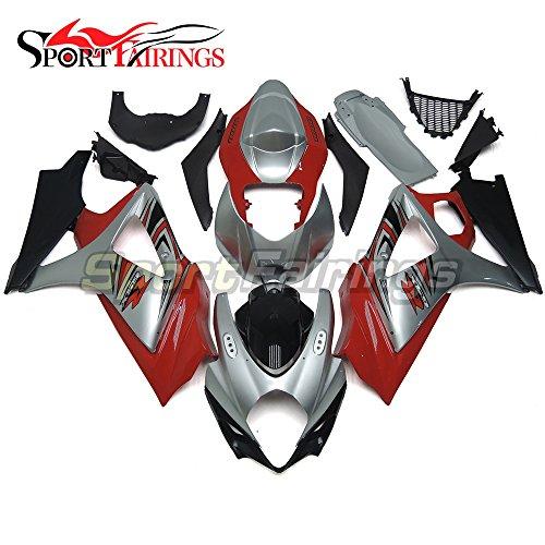 Sportfairings Fairing Kits For Suzuki GSX-R1000 K7 2007 2008 GSXR-1000 Fairings Frames Red Silver