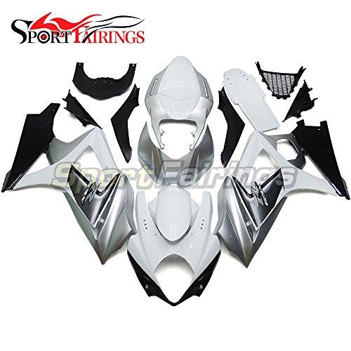 Sportfairings Fairing Kits For Suzuki GSX-R1000 K7 Year 2007 2008 GSXR-1000 Fairings Frames White Silver Cowling