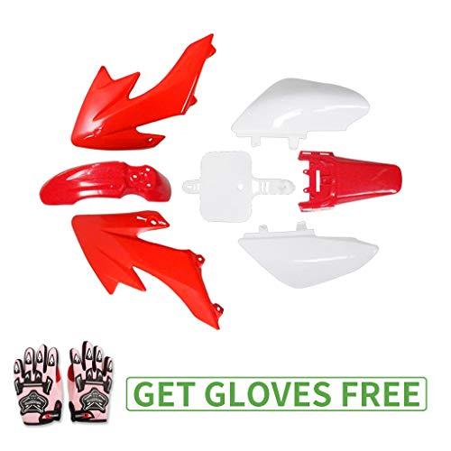 CRF50 Plastic Kit for Honda XR50 TaoTao Coolster Roketa SDG SSR Pit Dirt Bike Fairing Kit Pink Gloves