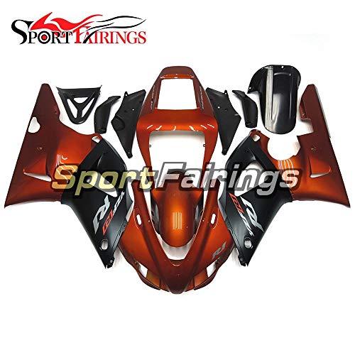 Sportfairings Motorbike Complete Fairing Kit For Yamaha YZF-R1 1000 R1 1998 1999 Year 98-99 Orange Black Cowlings