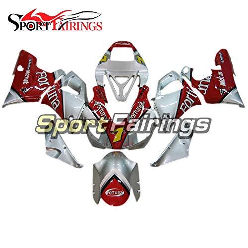Sportfairings Motorbike Complete Fairing Kit For Yamaha YZF-R1 1000 R1 1998 1999 Year 98-99 Silver Red Panel