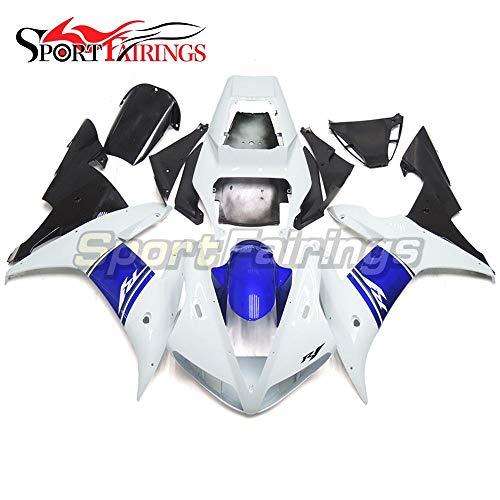 Sportfairings Motorbike Complete Fairing Kit For Yamaha YZF1000 YZF R1 2002 2003 Year 02-03 White Blue Black Cowling