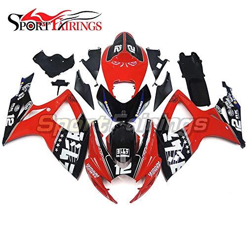 Sportfairings Sport Bike Fairing Kit Fit Suzuki GSX-R750 GSX-R600 GSXR 600 750 Year 2006 2007 K6 Bodywork Injection ABS Red Black 12