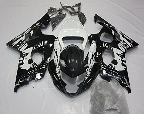 ZXMOTO Painted With Graphic Motorbike Bodywork Fairing Kit for Suzuki GSX-R600 GSXR750 2004-2005