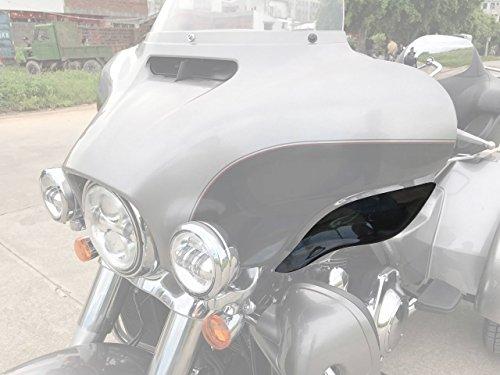 Black Adjustable Side Wings Air Deflectors ABS Fairing Side Cover Shield For Harley Davidson Touring Glide FL 2014-2017 15 16