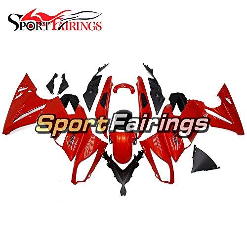 Sportfairings Full Plastic ABS Fairing kits For Kawasaki Ninja 650R ER-6F Year 2009 2010 2011 Red Motorbike Cowling Bodywork