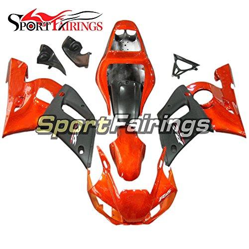 Sportfairings Injection Plastic ABS Fairing Kits For Yamaha YZF R6 1998 - 2002 Year 98 99 00 01 02 Motorcycle Fittings Orange Body Kits