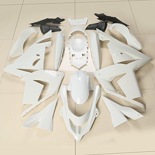 XFMT Motorcycle White Unpainted ABS Plastic Fairing Cowl Bodywork Set For KAWASAKI Ninja ZX10R 2004 2005