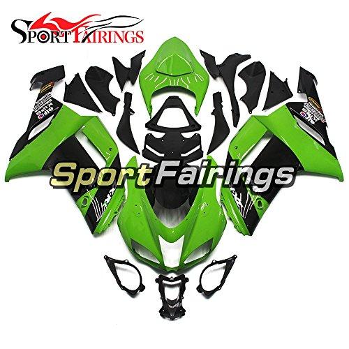 Sportfairings ABS Plastics Injection Motorcycle Fairing Kits For Kawasaki ZX6R Ninja636 Year 2007 2008 Black Green Cowling Motorbike Bodywork