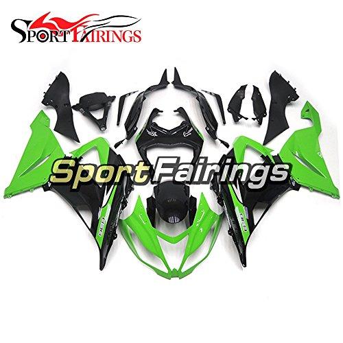Sportfairings Gloss Green Black Motorcycle Fairing Kits For Kawasaki ZX6R Ninja636 Year 2013 - 2016 13 14 15 16 ABS Injection Plastics Motorbike Cowling Bodywork