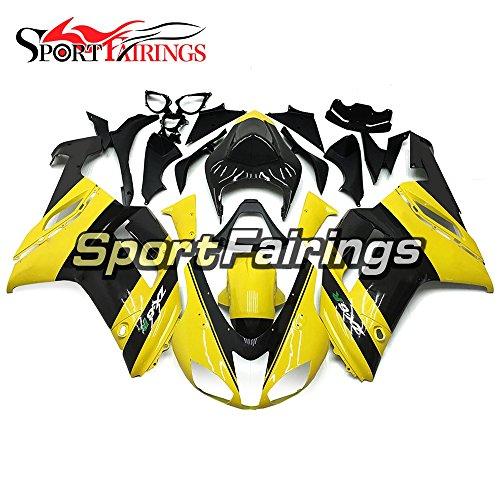 Sportfairings Injection ABS Plastics Motorcycle Cowling For Kawasaki ZX6R Ninja636 Year 2007 2008 Yellow Black Motorbike Fairing