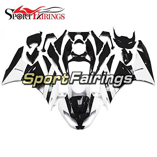 Sportfairings Injection Plastics ABS Motorcycle Fairing Kits For Kawasaki ZX6R Ninja636 Year 2009 2010 2011 2012 Black White Motorbike Bodywork