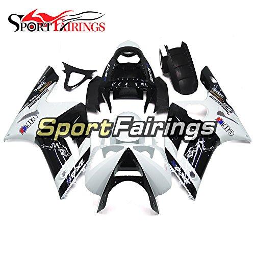 Sportfairings Motorcycle Fairing Kits For Kawasaki ZX6R Ninja636 Year 2003 2004 ABS Plastics Injection Pearl White Black Cowling Body Frames