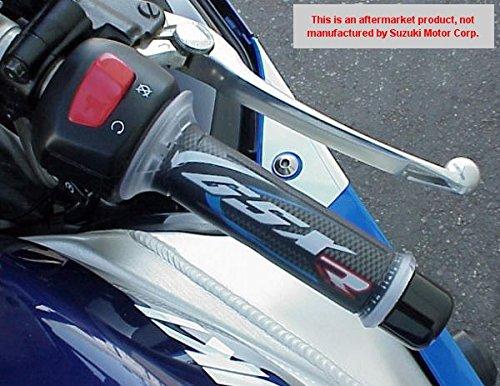 i5 Suzuki GSXR600 GSXR750 GSXR1000 GSXR 600 750 1000 BLUECARBON GEL LOGO HAND GRIPS