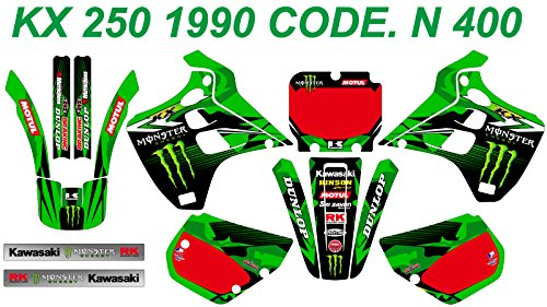 N 400 KAWASAKI KX 250 1990 DECALS STICKERS GRAPHICS KIT