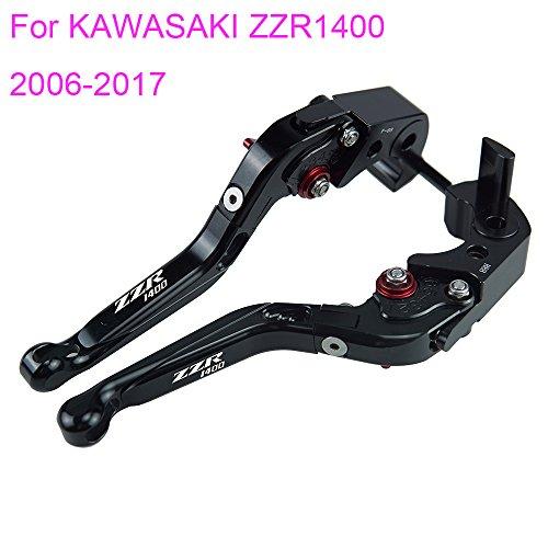 PRO-KODASKIN Folding Extendable Brake Clutch Levers for KAWASAKI ZZR1400 2006-2017 Black