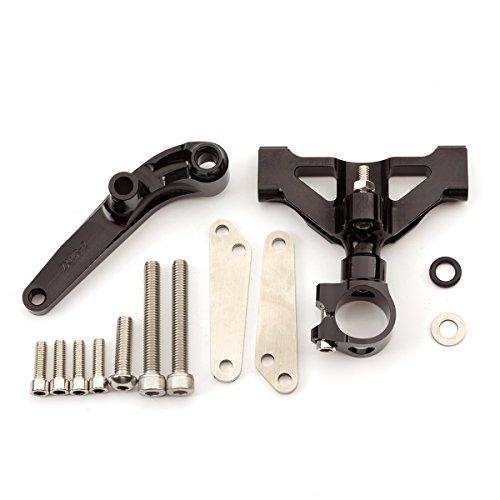 Rzmmotor Motorcycle CNC Steering Damper Stabilizer Buffer Mounting Bracket Kit Fit For Kawasaki ZZR1400 ZX14 2006-2016