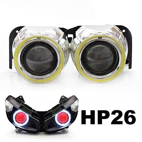 KT Tailor-Made HID Projector Kit HP26 for Kawasaki Ninja 650R 2009-2011 Red Demon Eye
