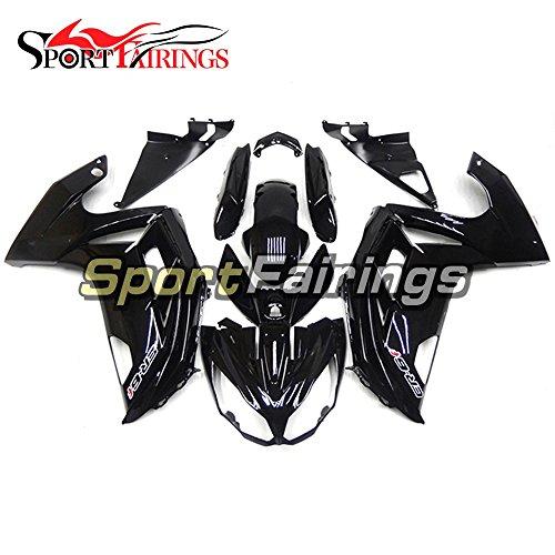 Sportfairings Plastic ABS Injection Fairing kits For Kawasaki Ninja 650R ER-6F Year 2012 - 2015 12 13 14 15 Gloss Black Cowling