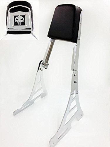 Skull Backrest Sissy Bar For Harley Sportster Xl883c Xl1200r C S Xlh883 Xlh1200