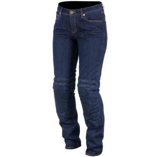 Alpinestars Kerry Tech Women's Denim Road Race Motorcycle Pants - Indigo Blue / Size 6