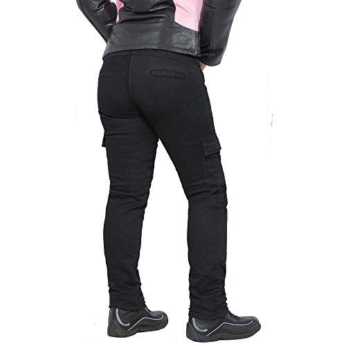 Bilt Iron Workers Women's Motorcycle Cargo Pants - 8, Black
