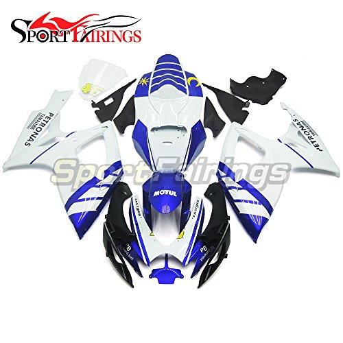 Sportfairings Complete Injection Fairing Kit For Suzuki GSX-R750 GSX-R600 Year 2006 2007 K6 Fairings Motorbike White Blue