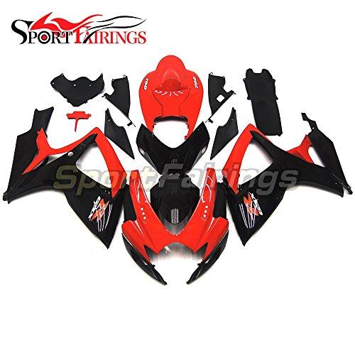 Sportfairings Full Fairing Kit For Suzuki GSX-R750600 GSX-R GSXR 600 750 K6 2006 2007 Fairings Motorbike Red Black Bodywork