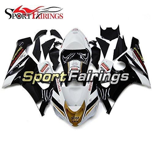 Sportfairings Gold White Black Motorcycle Fairing Kits For Kawasaki ZX6R Ninja636 Year 2005 2006 ABS Plastics Injection Fairings Motorbike Cowling Bodywork
