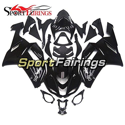 Sportfairings Motorcycle Fairing Kits For Kawasaki ZX6R Ninja636 Year 2007 2008 Gloss Black ABS Plastics Injection Fairings Motorbike Cowling