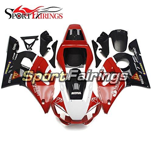 Sportfairings Red Black Fairing Kits For Yamaha YZF R6 1998 - 2002 Year 98 99 00 01 02 Fairings Motorcycle Body Kits ABS Plastic Bodywork